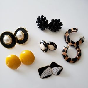 VINTAGE  ☆ Earring ~ Set of 6 ~ 1980's .